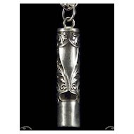 Classic Cylinder Whistle 925 Sterling Silver Pendant