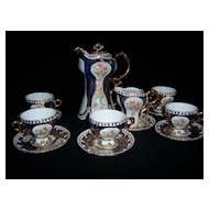 Limoges Chocolate Pot Cup and Saucer Set