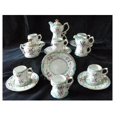 Child-size Limoges Toy Chocolate Pot Cup and Saucer Set