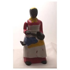 Cast Iron Mammy Feeding Baby Mechanical Bank