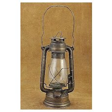 Old West Lantern Central Union & Pacific Railroad Brass Oil Lamp