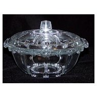 Vintage Spoke Glass Candy Dish with Spoke Lid