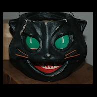 Black Cat Jack O'Lantern for Halloween