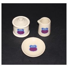Union Pacific Railroad Cream and Sugar Set