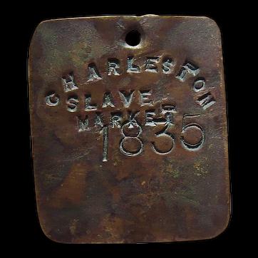 Charleston,South Carolina Slave Market Copper Tag