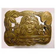 1901 Lillie Langtry Brass or Bronze Belt Buckle