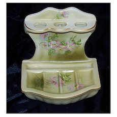 Vintage Nippon Hand Painted Toothbrush and Soap Holder