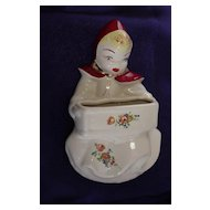 McCoy Pottery Little Red Riding Hood Wall Pocket
