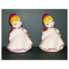 McCoy Little Red Riding Hood S & P Shakers