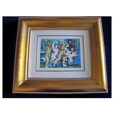 """Pablo Picasso Giclee Print """"Silenus Dancing"""" Published by the Collection Domaine Picasso"""