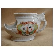 Antique 'Lucky Spots' Shaving Mug marked Brandenburg
