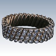 Blue rhinestone stretch bracelet