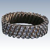 Blue rhinestone stretch bracelet