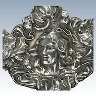 Unger Bros. sterling Art Nouveau large brooch--very fine