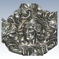 Unger Bros. sterling Art Nouveau large brooch--very fine