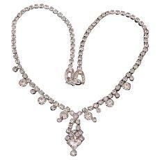 Weiss clear rhinestone necklace