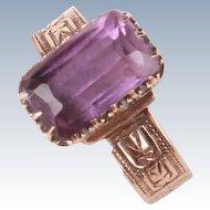 Victorian 14K gold Amethyst ring