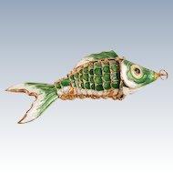 Enamel fish pendant--large