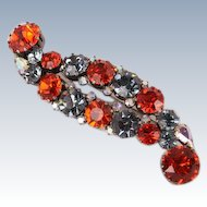 Stunning Made in Austra Blue and Orange brooch