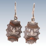 Great Victorian silver & copper earrings