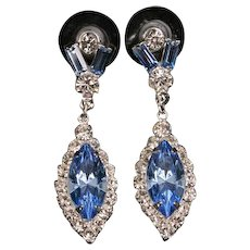 Eisenberg Ice blue and clear earrings