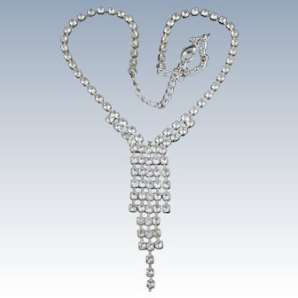 Fun clear rhinestone necklace