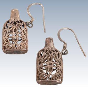 Sterling fun bottle earrings