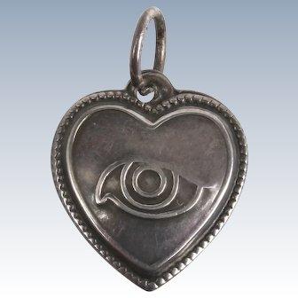 Pretty little puffy heart charm