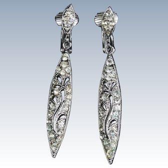 Clear rhiestone earrings