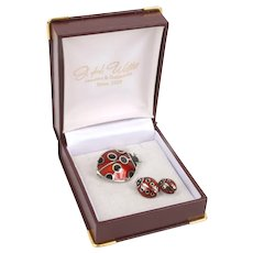 Cute enamel Ladybug pins in box