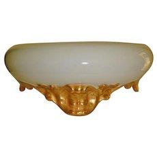 Super Antique Hand Painted Porcelain Punch Bowl Base Plinth for Jardiniere Vase Punch Bowl