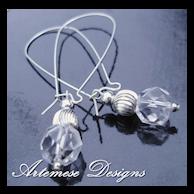 Grande Bling: Crystal Quartz & Silver Long Dangle Earrings