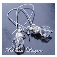 Grande Bling: Crystal Quartz & Silver Long Dangle Earrings