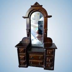 Vintage Bespaq MIRRORED VANITY Dollhouse Miniature