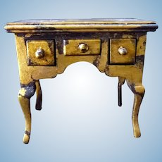 Lovely Artist Made Gilt Table 1:12 Dollhouse Miniature