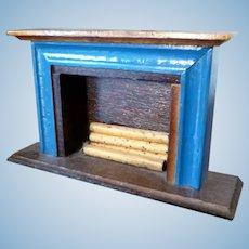 Artist Made Small FIREPLACE Dollhouse Miniature 1:12