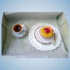 Vintage Artist Made TEA & TART 1:12 Dollhouse Miniature