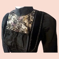 Antique 19th Century 1800s Victorian Lace & Satin Bodice Bust 29