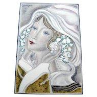 "RARE 1920s Art Deco GAZETTE BON TON Pochoir Fashion Hand Painted Print & Mat ""Mars"" Grangier"