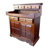 NIB Vintage Cherrywood DRY SINK Cabinet 1:12 Dollhouse Miniature