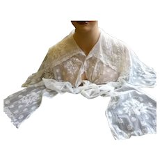 Antique Hand Made LACE SHAWL COLLAR From Movie Star Estate