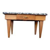 Vintage Artist Made Midcentury Style KITCHEN TABLE 1:12 Dollhouse Miniature 1:12