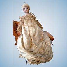 "c.1900 6.5"" Antique German Simon & Halbig 1160 Little Woman Dollhouse Doll"