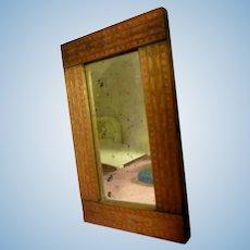 Vintage Carved Full Length Wood MIRROR 1:12 Dollhouse Miniature 1:12