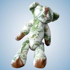 Artist Made Paisley Teddy Bear Articulated 1:12 Dollhouse Miniature