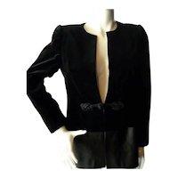 Vintage Nina Ricci Paris Velvet & Satin EVENING JACKET *From Movie Star Estate*
