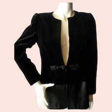 Vintage Nina Ricci Paris Velvet & Satin EVENING JACKET *From Movie Star Estate*