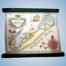 RARE Vintage TYNIETOY Tynie Toy Hand Painted Bermudas Map 1:12 Dollhouse Miniature