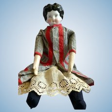"""Antique 19th Century Large 16"""" CHINA HEAD Woman Doll"""