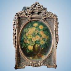 Vintage Framed Painting 1:12 Dollhouse Miniature